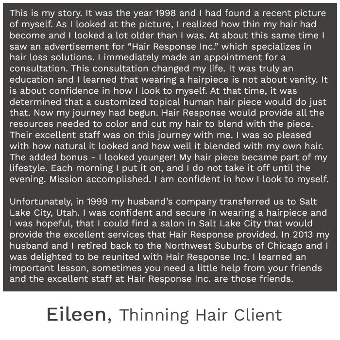 hair loss testimonials