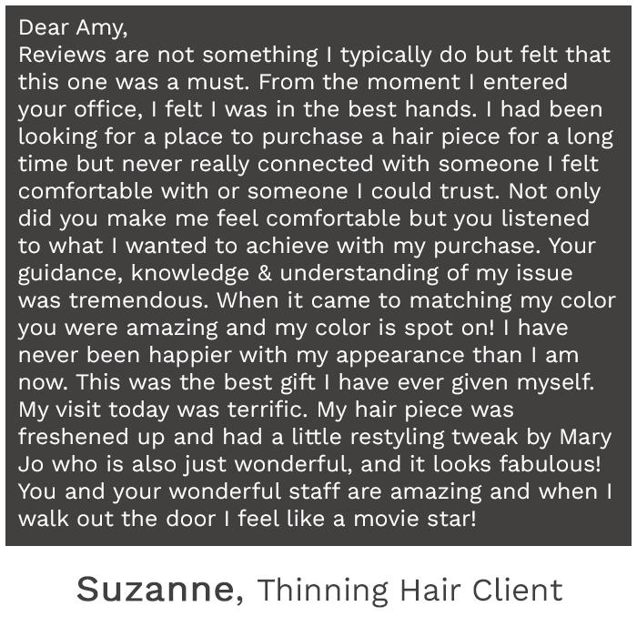 testimonials - hair loss